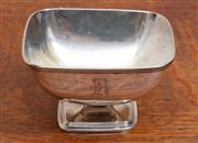Sale 9071H - Lot 33 - An American silver square form footed dish with R monogram by Towle Newbury Port Mass, Width 9.5cm 89.56g