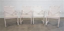 Sale 9188 - Lot 1724 - Set of 4 painted timber chairs (h90 x d61cm)