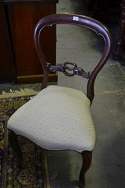 Sale 8093 - Lot 1815 - Set of 6 Victorian Mahogany Balloon Back Chairs