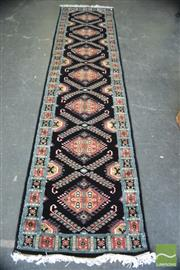 Sale 8386 - Lot 1095 - Pakistani Silk & Wool Runner (320 x 75cm)