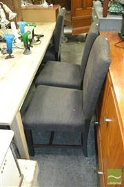 Sale 8440 - Lot 1069 - Set of 6 Charcoal Dining Chairs