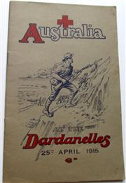 Sale 8639 - Lot 82 - Australia at the Dardanelles 25th April 1915, the same as the previous lot but this edition was printed for the Red Cross.