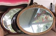 Sale 8774A - Lot 382 - Three mirrors, largest with bevelled edge and ribbon top 90cm