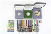 Sale 8835C - Lot 67 - Collection of Replica Service Medals Together with Australian Mint Proof Coins (3)