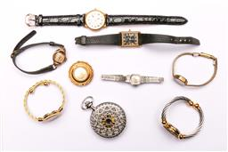 Sale 9119 - Lot 74 - A Collection of ladies watches to include pocket watch