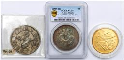 Sale 9164 - Lot 523 - Two silver coins and a medallion