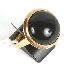 Sale 3682 - Lot 634 - A 14CT GOLD RING SET WITH A LARGE CABOCHON ONYX.