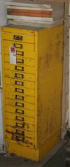 Sale 7670A - Lot 1178 - Fifteen drawer metal tool or filing cabinet