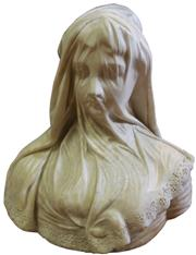 Sale 7995 - Lot 25 - Victorian Marble Carved Figure of a Young Veiled Woman