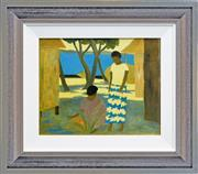 Sale 8266 - Lot 578 - Ray Austin Crooke (1922 - 2015) - Untitled (Island Scene) 40 x 49.5cm