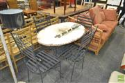 Sale 8257 - Lot 1079 - Metal Five Piece Outdoor Setting