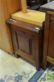 Sale 8515 - Lot 1083 - Timber Single Door Bedside