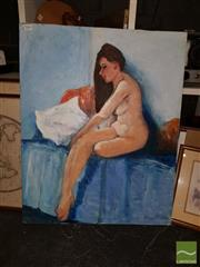 Sale 8548 - Lot 2068 - James Radford - Brunette (Nude) 76 x 61cm