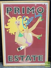 Sale 8550 - Lot 1139 - Framed Reproduction Poster Primo Ciao Bella