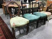 Sale 8889 - Lot 1391 - Two Pairs of Victorian Dining Chairs