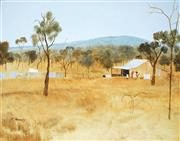 Sale 8955 - Lot 529 - Ray Crooke (1922 - 2015) - Outback Family 30.5 x 38 cm (frame: 42 x 38 x 4 cm)