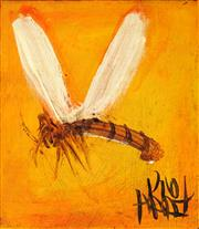 Sale 8947A - Lot 5041 - Kevin Charles (Pro) Hart (1928 - 2006) - Dragonfly, c 1980s 12 x 10.5 cm (frame: 43 x 43 x 2 cm)