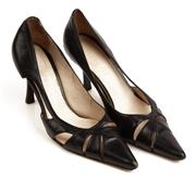 Sale 9071F - Lot 97 - A PAIR OF WITCHERY POINTED TOE LOW HEELS; in black, size 36
