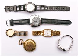 Sale 9119 - Lot 75 - A Collection of Mens watches to include gold-plate pocket watch