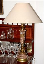 Sale 8088A - Lot 92 - A vintage red marble and gilt metal table lamp