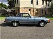 Sale 8359A - Lot 1 - 1977 Mercedes Benz 450SL convertible Australian delivered and complied.  Factory air conditioning , alloys and cruise control....