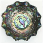 Sale 8413 - Lot 24 - Carnival Glass Kingfisher Master Bowl in Amethyst