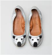 Sale 8740F - Lot 182 - A pair of Marc by Marc Jacobs metallic mice ballet flats, size 37