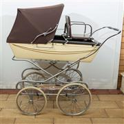 Sale 8774A - Lot 385 - A vintage pram by silver cross in cream and chocolate brown