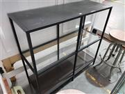 Sale 8782 - Lot 1756 - Modern Shelving With Glass Insert