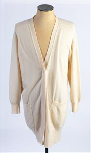 Sale 8926H - Lot 8 - Two Lyle & Scott pure cashmere oversized cardigans in bone white, size 12-14