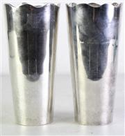 Sale 8960 - Lot 56 - A Pair of Silver Plated Milkshake Cups Together with Box of Splayds