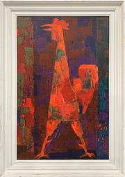 Sale 8961 - Lot 2061 - A Retro Print After Wolf Reuther , 74 x 51cm (frame)