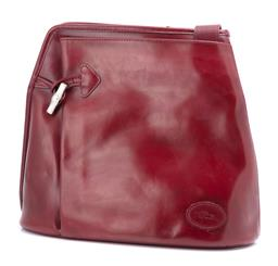 Sale 9186 - Lot 399 - A LONGCHAMP ROSEAU BAMBOO TOGGLE BAG; in burgundy leather to front pocket with silver tone bamboo style toggle clasp and adjustable...