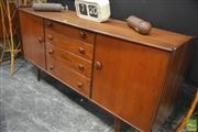 Sale 8326 - Lot 1072 - Quality Teak and Afromosia Younger Sideboard