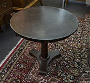 Sale 8310A - Lot 21 - A Becara ebonised crackle effect circular occasional table on tripod base, H 74 x D 80cm
