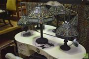 Sale 8326 - Lot 1672 - Leadlight Table Lamp and 2 others