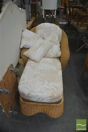 Sale 8331 - Lot 1360 - Wicker Chaise Lounge with Cushions
