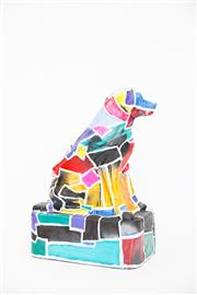 Sale 8479G - Lot 1 - Anthony Buselli - Untitled. With painting this dog I wished to walk a line between chaos and order, process and inspiration, work...