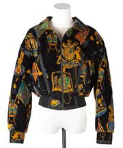 Sale 8550F - Lot 155 - A vintage Escada by Margaretha Ley quilted bomber jacket, size euro 36.