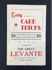 Sale 8539M - Lot 54 - The Great Levante, 'Easy... Card Tricks'