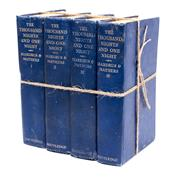 Sale 8575J - Lot 150 - Four volumes of The thousand nights and one night, Mardrus and Mathers, pinted 1947