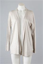 Sale 8740F - Lot 91 - A Polo Ralph Lauren grey rayon/viscose blend long sleeved cardigan, size SP