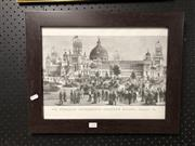 Sale 8797 - Lot 2156 - Framed Picture of the Australian International Exhibition Building, 1879
