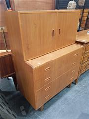 Sale 8822 - Lot 1013 - Chatley Tall Boy with 4 Drawers and 2 Doors