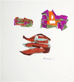 Sale 9101 - Lot 2286 - Lyndon Dadswell (1908-1986) (2 works) - Studies for Sculpture no. 329 & no.330, 1977 27 x 24.5 cm, each