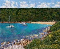 Sale 9154JM - Lot 5088 - STANLEY PERL (1942 - ) Cobblers Beach acrylic on canvas 40.5 x 50.5 cm signed and titled verso