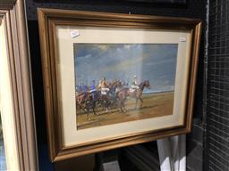 Sale 9172 - Lot 2029 - P A SMITH - Lining up for the Race 30.5 x 41.5 cm (frame: 49 x 61 x 3 cm)