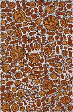 Sale 9239A - Lot 5066 - ROMA GIBSON NUNGURRAYI My Country acrylic on canvas 153 x 100 cm (stretched and ready to hang) signed verso; certificate of authenti...