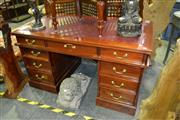 Sale 8124 - Lot 1023 - Twin Pedestal Desk with Leather Top