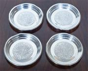 Sale 8800 - Lot 126 - A group of four Mexican silver pin dishes (ash trays), D 7cm